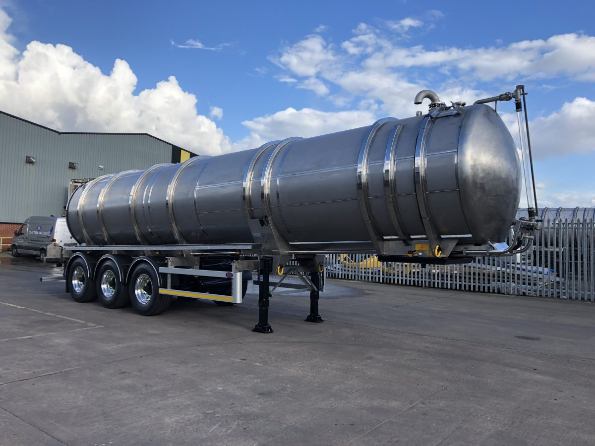 New 32000 litre pot ale tanker built and ready to go