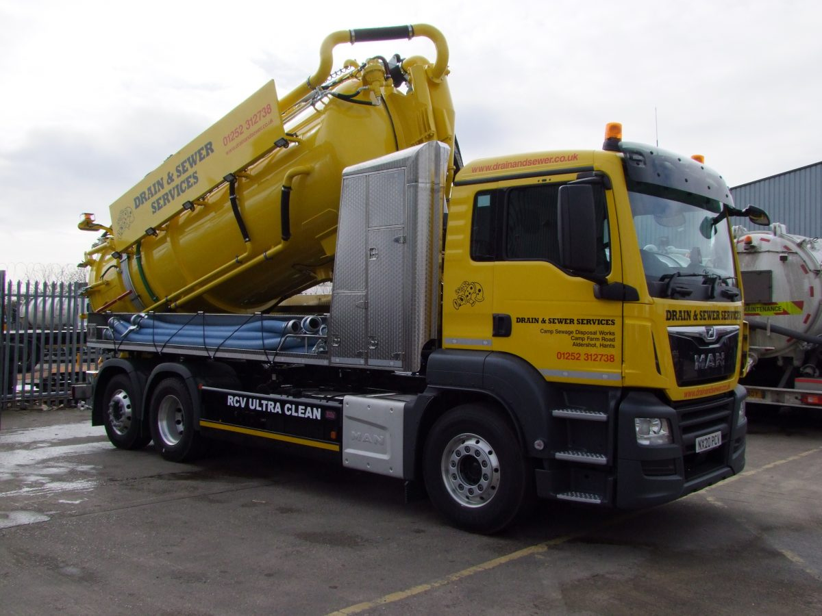 Drain and Sewer Services   Take delivery  of RCV Ultra Clean recycler
